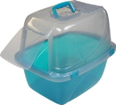Van Ness Translucent Enclosed Cat Pan - Assorted - 19.5X15X17 Inch
