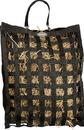 Gatsby Leather Slow Hay Feeder Bag - Black - 20X27X6.5 Inch