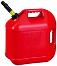 Midwest Can Spill Proof Poly Gas Can - Red - 5 Gallon