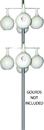 Heath Galvanized Steel Gourd Pole - Silver - 15 Ft