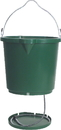 Farm Innovators Oversized Heated Flat-Back Bucket - Green - 5 Gallon