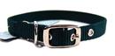 Hamilton Single Thick Nylon Dog Collar - Hunter Green - 5/8  X 16