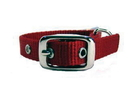 Hamilton Single Thick Nylon Dog Collar - Red - 5/8  X 12