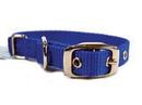 Hamilton Single Thick Nylon Dog Collar - Blue - 5/8  X 14