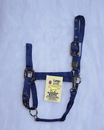 Hamilton Adjustable Chin Horse Halter With Snap - Navy - Large