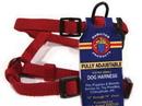 Hamilton Adjustable Dog Harness - Red - 3/8  X 10-16
