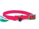 Hamilton Braided Safety Cat Collar - Hot Pink - 12  X 3/8