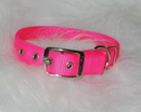 Hamilton Double Thick Nylon Dog Collar - Hot Pink - 1X22 Inch