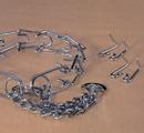 Hamilton Chain Prong Training Collar Chrome Hamilton Strlng - 3.8Mm/Large