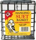 C & S Hanging Plastic Coated Wire Suet Basket - Black - 1.8X4.9X5.2 In
