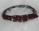 Hamilton Rolled Leather Collar - Burgundy - 3/4  X 20