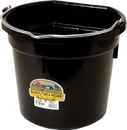 Miller Little Giant Plastic Flat Back Bucket - Black - 20 Quart