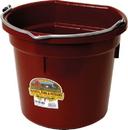 Miller Little Giant Plastic Flat Back Bucket - Burgundy - 20 Quart