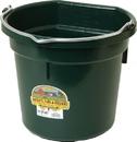 Miller Little Giant Plastic Flat Back Bucket - Green - 20 Quart
