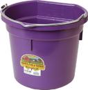 Miller Little Giant Plastic Flat Back Bucket - Purple - 20 Quart