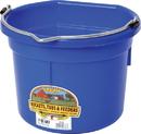 Miller Little Giant Plastic Flat Back Bucket - Blue - 8 Quart