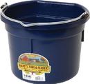 Miller Little Giant Plastic Flat Back Bucket - Navy - 8 Quart