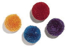 Ethical Wool Pom Poms With Catnip - Assorted - 4 Pack