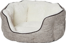MIDWEST HOMES FOR PETS 40279-TTXS Quiet Time Tulip Pet Bed Fur, Taupe, Xsmall