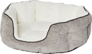 MIDWEST HOMES FOR PETS 40279-TTS Quiet Time Tulip Pet Bed Fur, Taupe, Small
