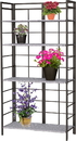Panacea Products Vintage Bakers Rack Stand W/ Dj Galv Shelves