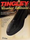 Tingley Rubber Weather Fashions Trim Rubber Overshoes - Black - Medium