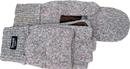 Boss Fingerless Ragg Wool Fingerless Glove W/ Mitt Flap - Gray - Large