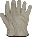 Boss Quality Grade Grain Cowhide Leather Driver Glove - Natural - Large