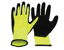 Boss V2 Flexi-Grip High-Vis Polyester Knit Glove - Black/Yellow - Small
