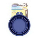 Petmate Travel Bowl For Dogs & Cats - Blue - Large