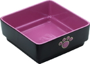 Ethical Four Square Dog Dish - Pink - 7 Inch