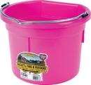 Miller Little Giant Plastic Flat Back Bucket - Hot Pink - 8 Quart