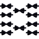 TOPTIE Wholesale 10 Pcs Bowtie, Men's Formal Bow Tie Satin Banded Bow Tie