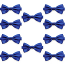 TOPTIE Wholesale 10 Pcs Bowtie, Men's Solid Color Satin Tuxedo Bow Tie