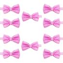TOPTIE Wholesale 10 Pcs Jacquard Woven Solid Color Bowtie, Men's Tuxedo Bow Tie