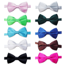 Wholesale TOPTIE Mens Tuxedo Bow Tie Adjustable Neck Bowtie 10pc Mixed Lot Solid Color