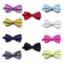 TOPTIE Wholesale 10 Pcs Bowtie, Men's Solid Color Satin Bow Tie, Assorted Color