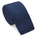 Wholesale TOPTIE Men's Knit Solid Skinny Tie Polyester Square End 2 Inch Necktie Tie