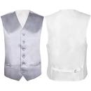 TopTie Men's Satin Vest for Suit or Tuxedo 6 Button Dress Vest