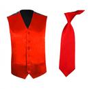 TopTie Men's Dress Vest Necktie Set For for Suit or Tuxedo, 2 Pieces Set