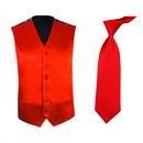 TopTie Men's Dress Vest and Necktie Set For for Suit or Tuxedo