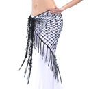 BellyLady Belly Dance Hip Scarf, Egyptian Triangle Shawl