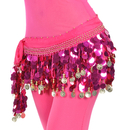 Wholesale BellyLady Belly Dance Hip Scarf Skirt Wrap With Paillettes Christmas Gift Idea