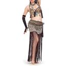 BellyLady Belly Dance Tribal Gypsy Leopard Print Costume Bra & Skirt, Gift Idea