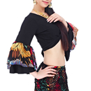 BellyLady Belly Dance Tribal Flare Sleeve Wrap Top, Gypsy Dance Costume Top