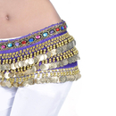 BellyLady Belly Dance Hip Scarf, Velvet Belly Dancing Skirt With Rhinestone