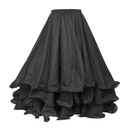 TOPTIE Wholesale Belly Dance Skirt, Tiered Chiffon Maxi Full Skirt