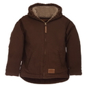 Berne Apparel BHJ42T Toddler Sanded Hooded Coat - Sherpa Lined