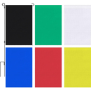 6 Pcs Solid Color Blank Garden Decorative Flags, Polyester Yard Banners for Decorating, 12