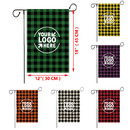 3 Pcs Personalized Grid Garden Decorative Flags, Double Sided Plaid Yard Flags for Decorating, 12